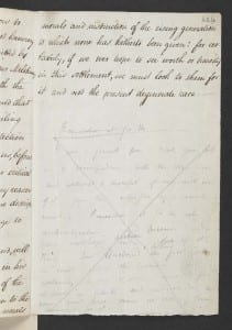 Elizabeth Paterson to Maria Sophia Bentham, 7 Oct 1800 (p.1) British Library Add. MS  33,453, fo. 424r
