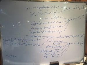 Photo of museum managers' answers to questions (in Arabic) - 6