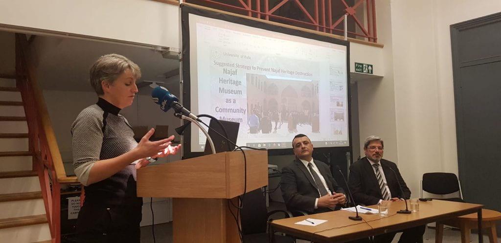 Eleanor Robson, Sadiq Khalil and Ali Naji at UCL IAS on 13 February 2020