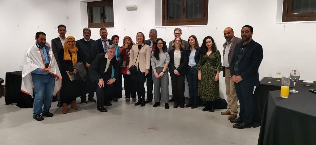 The participants of the conference on heritage for peace, Barcelona, 5 March 2020