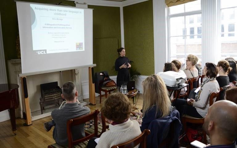 Participants at a BiLingo workshop