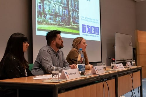 Humera and Dean speaking at the Participation in Cultural Heritage for Mental Health Recovery, International Conference