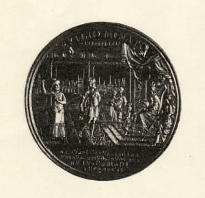 Medal celebrating in 1748 the successful intervention on behalf of the Prague Jewish community expelled in 1744, a cause célèbre of the mid-18th century