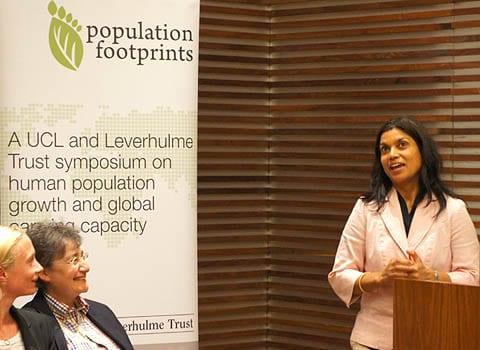 Dr Meera Tiwani presents at the symposium