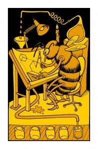 A bee working on the science of honey