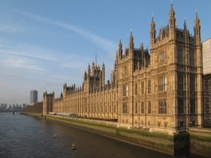 The Houses of Parliament, Westminster, London.