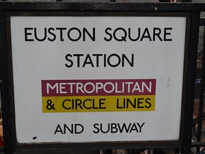 Euston Square Station sign