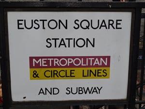 Euston Square Station sign
