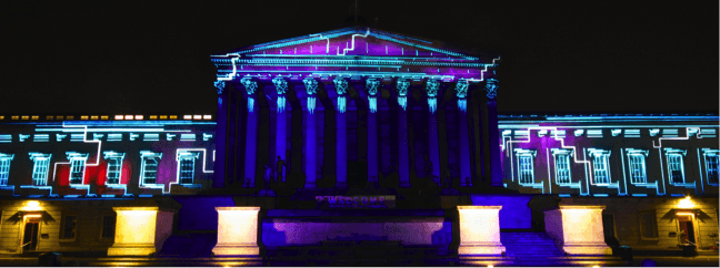 Projections on the UCL Portico