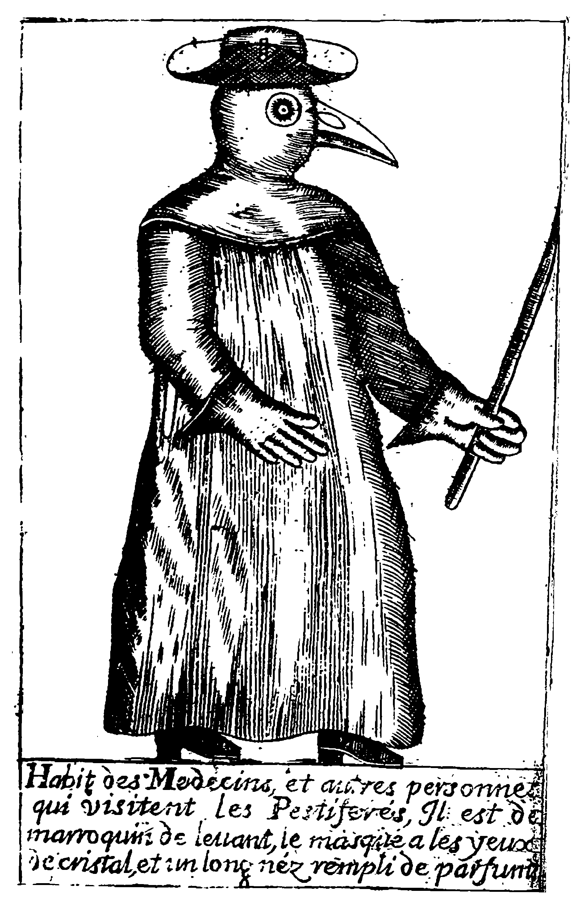 A Plague Doctor – from Jean-Jacques Manget, Traité de la peste (1721)