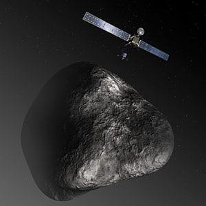Rosetta and Philae at comet. Credit: ESA