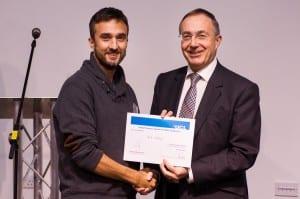 Dr Nick Shepley receives his award