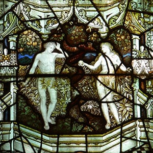 Adam and Eve, St Mary's Eastham, Wirral Credit: Sue Hacker on Flickr