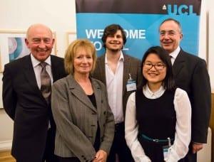 Maurice Watkins, Professor Dame Hazel Genn, Leon Veal, Samantha Leung and Professor Michael Arthur