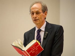Sir Michael Marmot speaks to audience members