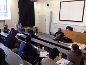 Professor Lewis Gordon speaks to attendees
