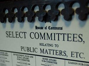 Select Committee notice