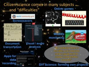 mulitple citizen science projects slide
