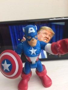Captain America and Trump
