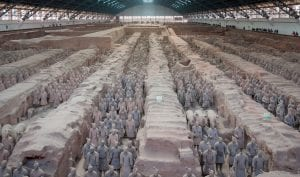 The Terracotta Army in the Museum of Emperor Qin Shihuang's Mausoleum  Source: Wikimedia Commons