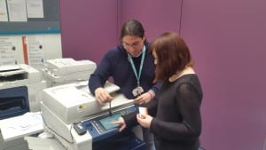 Using the printers
