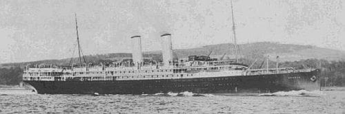 Figure 3 - The SS Orsova. Childe travelled on this ship from Sydney to Plymouth. Copyright: http://www.clydesite.co.uk/clydebuilt/viewship.asp?id=2273 Credit: Stuart Cameron