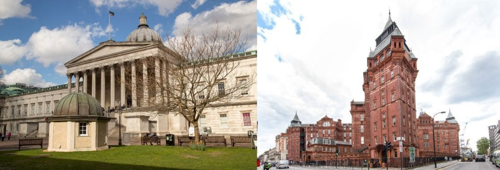 Image of UCL Portico Building and UCL Cruciform Building