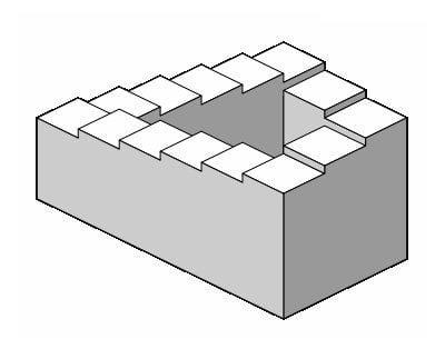 Esher-like staircase