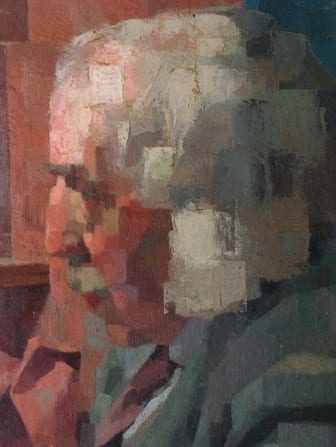 Fig. 5. Ibrahim El-Salahi 'Head' (1956) Oil on board, 35.5 x 45 cm,  Collection of Eve El-Salahi
