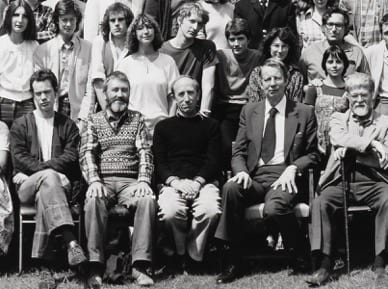 Patrick George (centre), Slade class photo, spring 1978