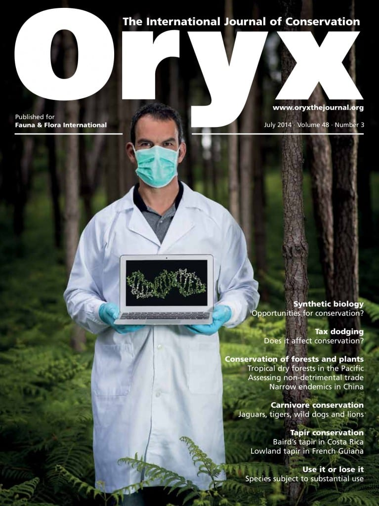 Oryx front cover