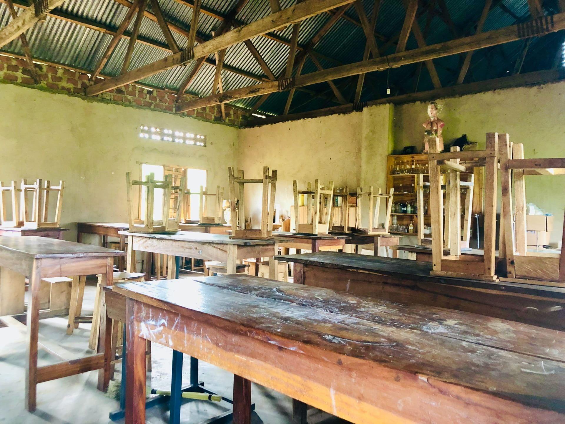 A classroom in Uganda