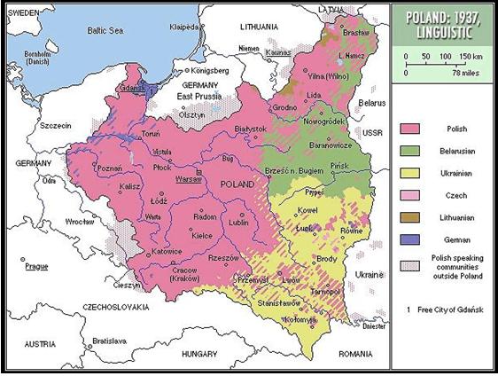 Interwar Europe Map.History Of A Nation Ukrainians Under The Second Polish Republic Slovo