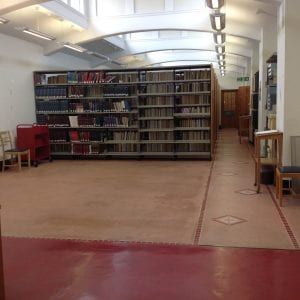 Empty space in the reading room