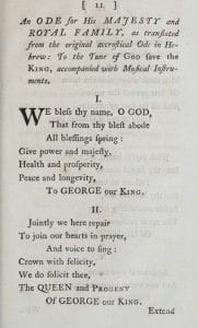 An Ode for His Majesty and Royal Family
