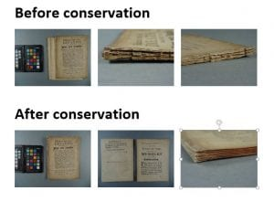 Before and after photos of conservation