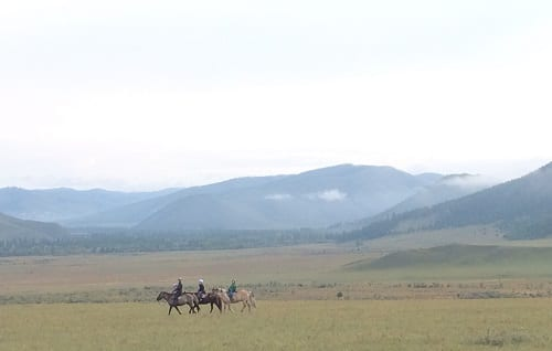 'School Club' on the steppe, photo by R. Empson.