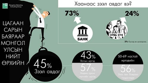 Loan for TS, 45% of total families take loans
