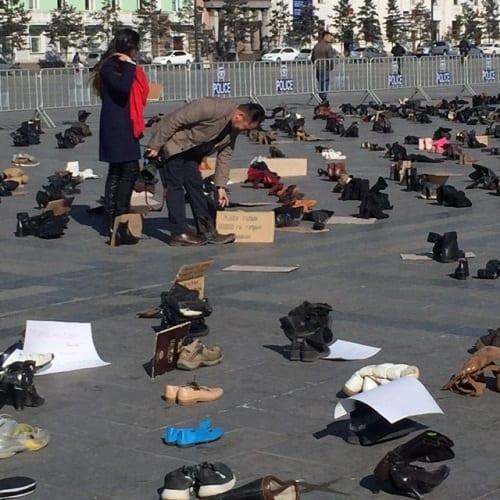 shoe protest 1