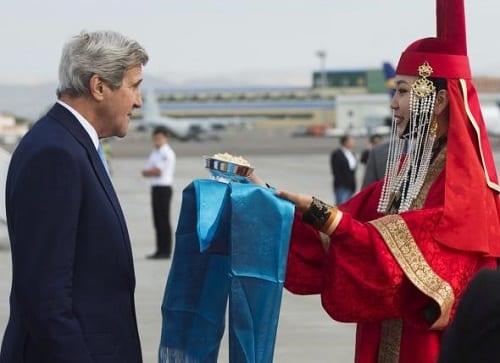 Figure 1. John Kerry, US Secretary of State in Mongolia
