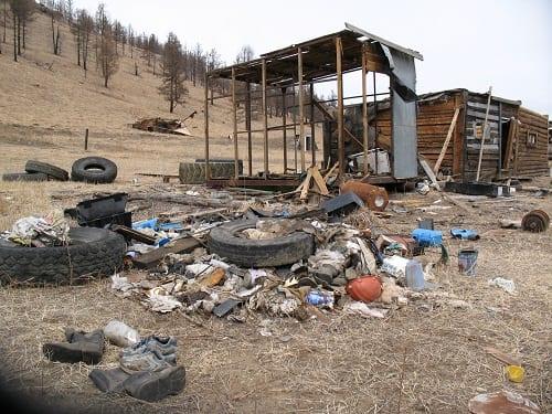 Abandond mine site