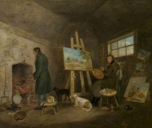 Morland, George, 1763-1804; The Artist in His Studio and His Man Gibbs
