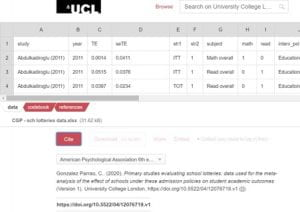 My Data on UCL's Research Data Repository