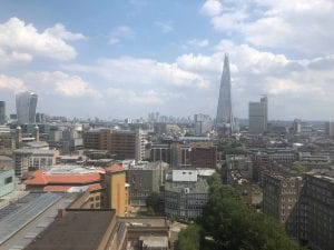 London Skyline Shard UCL Summer School