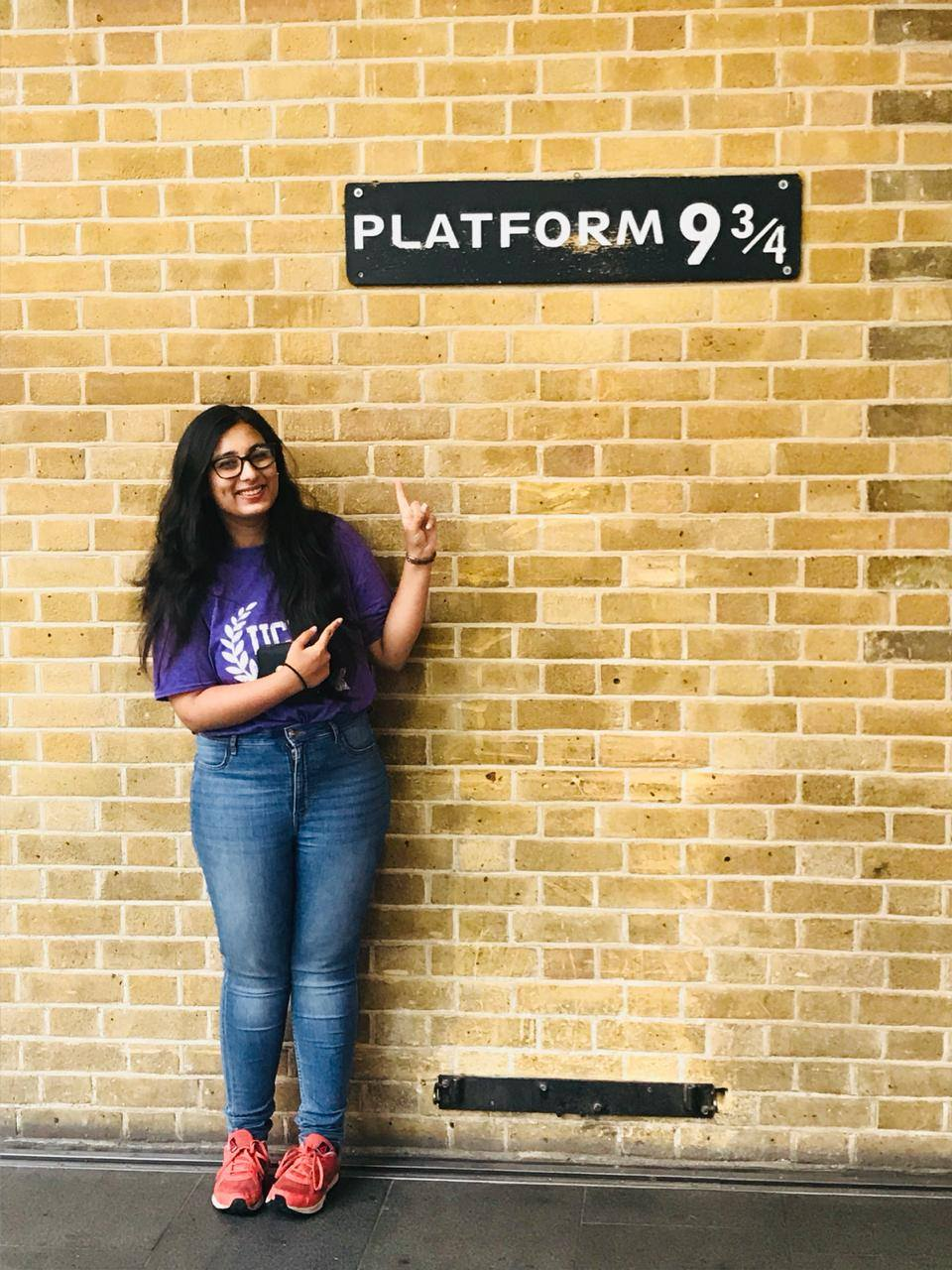 Platform nine and three quarters at King s Cross Station! Only 10 minutes   walk from UCL! eba77bf23