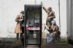 Banksy-on-the-side-of-a-house-in-Cheltenham