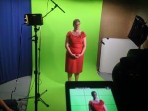 Louisa Murdin green screen shoot