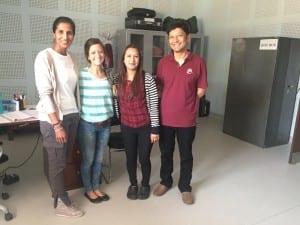 The team - Priya, Sandra, Pratiksha & Sujit