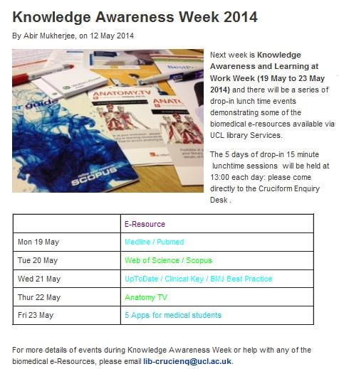Knowledge Awareness Week 2014