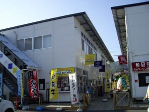 Temporary shopping centre housing Save Takata and Sakura Line